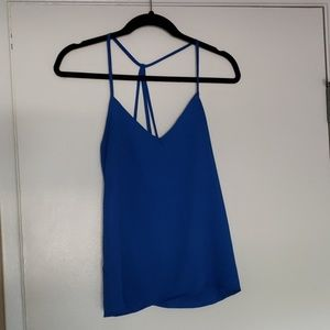 NWOT Strappy Blue Tank Top